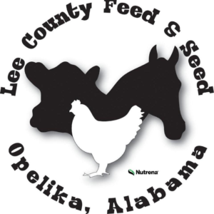 Lee County Feed & Seed logo: Black cow and horse with a white chicken in front. Uncle Keiths Red Sauce supplier
